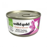 Solid Gold Tropical Blendz with Turkey & Coconut Oil Pate Grain-Free Canned Cat Food, 3-oz, case of 12