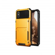 Funda IPhone X Xs USO RUDO Marca VRS DESIGN (VERUS) Modelo Damda Folder - Amarillo