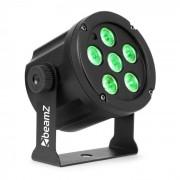 Beamz SlimPar 30 Foco led 6x 3W 3en1 RGB LEDs Mando a distancia Negro (Sky-150.902)