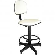 Cadeira Caixa Giratória em Couro Ecológico Branca CE177 Pethiflex