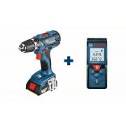 Perceuse visseuse sans fil GSR 18-2-LI Plus avec Télémètre laser GLM 40