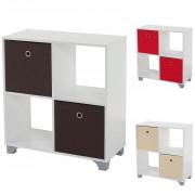 Regal T364, Standregal Holzregal, weiß inkl. 2 Faltboxen ~ Variantenangebot