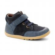 Bobux Kék fűzős magasszárú kiscipő - 28 (4-5 éves)