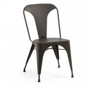 Kave Home Cadeira Malira grafite , en Metal - Cinzento
