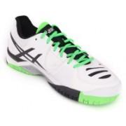Asics Gel-Challenger 10 Men Tennis Shoes For Men(White, Silver, Green)