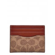 Coach Flat Card Case Non Leather Womens Slgs Bags Card Holders & Wallets Card Holder Brun Coach