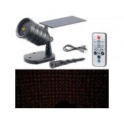 Solar-Laser-Projektor mit Akku, Sternenregen-Lichteffekt, Timer, IP65 | Laser Projektor