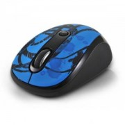 мишка DELUX DLM-130GB (Wireless 2400MHz 800/1600dpi,3 btn), Black/Blue - DLM-130GB-G01UF