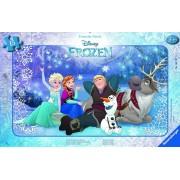 Puzzle Frozen sub stele, 15 piese