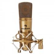Auna CM600 Micrófono de condensador estudio USB bronce