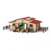Schleich North America Schleich Stable with Horses & Accessories Toy