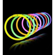 Pre GST Price Offer -Crazy Sutra Glow in the Dark Bands - Premium Lumistick Bracelets - 100 Pcs Set Assorted Colours
