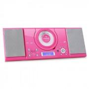Auna MC-120 Microanlage Vertikalanlage MP3-CD-Player USB AUX Wandmontage pink