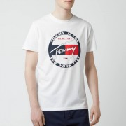 Tommy Jeans Men's Circle Graphic T-Shirt - Classic White - XXL - White
