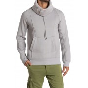 Helmut Lang Brushed French Terry Cowl Neck Hoodie HEGR