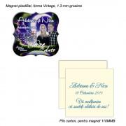 Magnet Vintage Save The Date