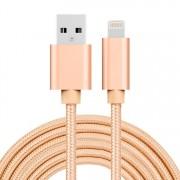 3 méteres USB kábel iPhone X/8/8 Plus/7/7 Plus/6/6s/6 Plus/6s Plus/iPad/5/5s/SE - ARANY
