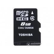Card memorie Toshiba 8GB Class 4 Micro SDHC, cu adaptor (SD-C08GJ_6A)