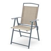 Producent: Elior Składane krzesło ogrodowe Soner - popiel