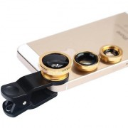Mobile clip Lens Smart phones compatiable Lens3 in 1 Lens Fish Eye Lens Macro Lens Wide Angle Lens Mobile LensUniversal Mobile Lens Telescope LensZoom Lens