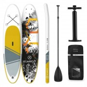 Klarfit Set de tabla de remo inflable para SUP doble capa Kauai Flow 305x10x77 (WTR1-Kauai Flow)