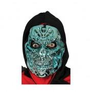 Geen Griezelige blauwe skelet masker voor horror thema