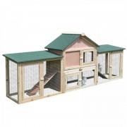 PawHut - Coelheira de exterior extra-grande de madeira - PAWHUT