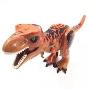Sunworld Jurassic World Dinosaur Toy Figures Bricks Czp Tyrannosaurus Rex Building Dinosaur Toys (Brown)