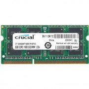 8GB DDR3 PC12800 1600MHz Crucial SODIMM CT102464BF160B laptop memoria