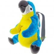 Merkloos Knuffel rugzakje/rugtasje ara papegaai vogels 32 cm knuffels kopen