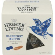 Ceai Premium Blueberry Muffin Bio 20plicuri Higher Living