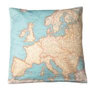Kussen met vintage kaart van Europa | Sass & Belle