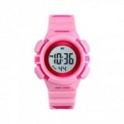Ceas de copii sport SKMEI 1485 waterproof 5ATM cu alarma cronometru data si iluminare ecran roz