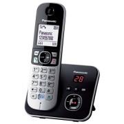 """Telefon, vezeték nélküli, üzenetrögzítő, PANASONIC """"KX-TG6821PDB"""", fekete"""
