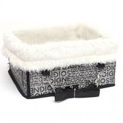 ELECTROPRIME® Pet Dog Car Carrier Booster Box Case Seat Kennel for Large Dog Silver L