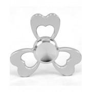 Liten Hjärtformad Fidget Spinner i Aluminium - Silverfärgad