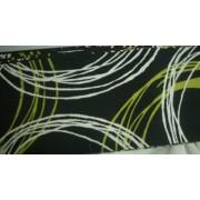 Vászon maradék, fekete-zöld vonalas 4db egyben/017/Cikksz:1231456