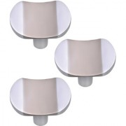 Doyours Cabinet Knob White Metal - Set of 3