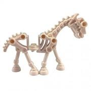 Lego Castle Animal White Skeletal Skeleton Horse For Minifigs (x2 Loose)