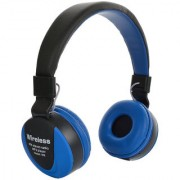Mettle MS-771A Bluetooth Radio Frequency Headset with Mic (Blue Black Over the Ear) .