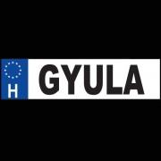Gyula - Név rendszámtábla