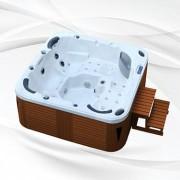 Whirlpool American Outdoor Whirlpool Torina Sterling Silver / Teak 215x215cm