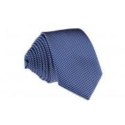 Pánská modrá slim kravata s proužky - 6 cm