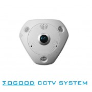 Hikvision Multi-language Version DS-2CD6362F-IS 6MP Fisheye View Indoor Use IP Camera Support SD Card PoE IR