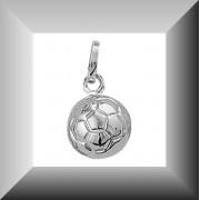 Stoere zilveren voetbal hanger