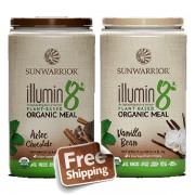 SunWarrior Illumin8 Aztec Chocolate en Vanille - 2 x 800 gram GRATIS verzending