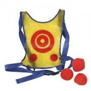Alcoa Prime Tag Target Toss Toy 1 vest, 3 soft Ball great for Kid Child Dodgeball Game