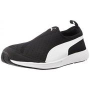 Puma Unisex FTR TF-Racer Slip-on Black and White Mesh Running Shoes - 10 UK