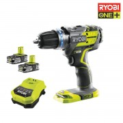 Perceuse-visseuse à percussion Brushless RYOBI 18V OnePlus - 2 batteries LithiumPlus 1.5Ah - Chargeur - Sac de transport R18PDBL-LL15S