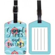 Nutcaseshop Good Time And Tan Lines Luggage Tag(Multicolor)